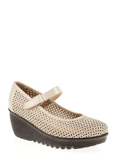 Divarese - Dolgu Topuk Bağlamalı Ayakkabı